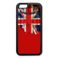 tardis British flag - iPhone 6/6s Rubber Case