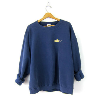 Nike Sweatshirt faded blue sweatshirt Athletic Pullover Sweater Slouchy Cotton Sports Sporty Prep Workout Top COED size XXL Extra Large