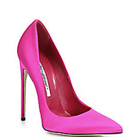 Brian Atwood - FM Satin Point-Toe Pumps - Saks Fifth Avenue Mobile