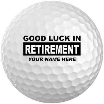 Box of 3 Personalized Retirement Callaway SuperHot 55 Golf Balls