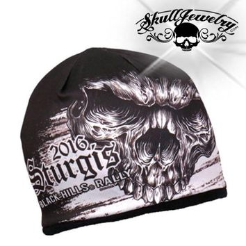Official Sturgis Motorcycle Rally Shredder Skull Beanie (beanie004)