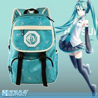 Japan anime Hatsune Miku dress pattern creative school backpack daily bag