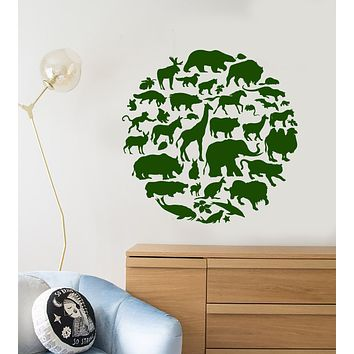 Vinyl Wall Decal Animal Planet Silhouette Wild Nature Stickers (3327ig)
