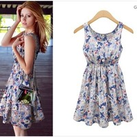 Aliexpress.com : Buy Casual Dress 2014 New Fashion Women Dresses Sleeveless Flower Printed Vest Dress Summer Chiffon Dress Vestido de festa Femininos from Reliable dresses prom dress suppliers on KARA FASHION FACTORY