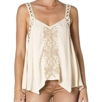 Miss Me Cream Embroidered Tank Top - Sheplers