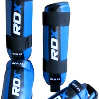 RDX Gel Shin Instep Foot Pad Karate Taekwondo Blue