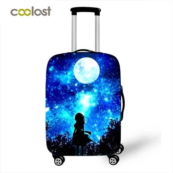 Galaxy / Universe /  Cheshire Cat 3D Protective Cover Apply to 18-28 inches Luggage Suitcase Suitcase Accessories