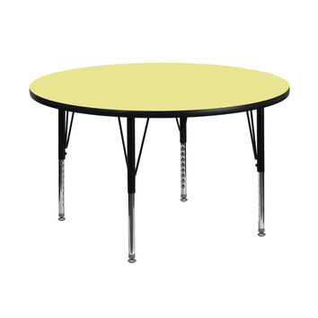 Flash Furniture 48 Round Daycare Preschool Kids Learning Play Activity Table Yellow