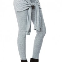 Grey Stylish Tie Over Leggings