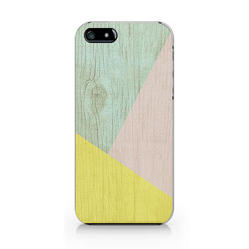 A-281- Geometric Wood print iPhone 4/4S case, Autumn iPhone 5/5S case