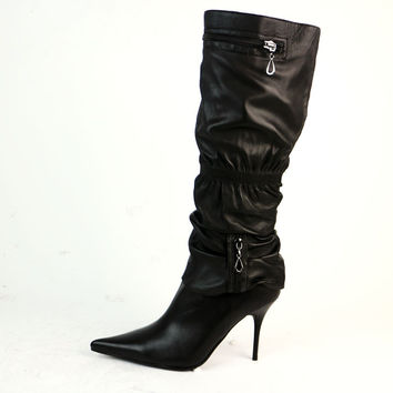 Womens Trendy Knee High Heels Boots