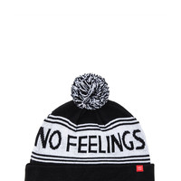 Lazy Oaf No Feelings Bobble Hat in Black