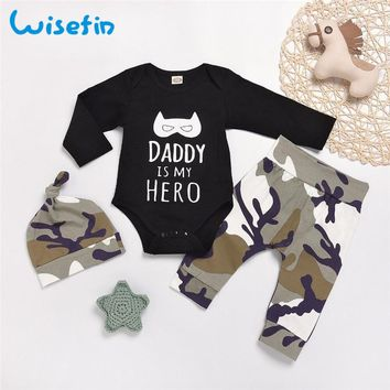 416aefeb8d2ba Wisefin Infant Boy Full Outfits Camo Newborn Clothing Set For Bo