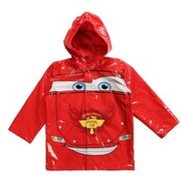 Disney Cars Boy's Red Rain Coat - Sizes X-small 4/5 and Small 6/7