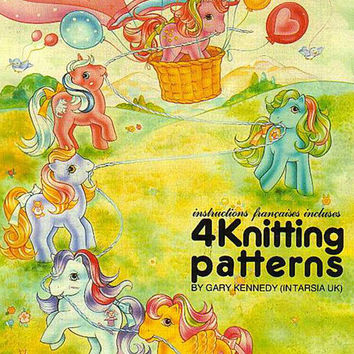 My Little Pony Knitting Pattern. Size 24 - 40 inch. Intarsia knitting. pdf instant download