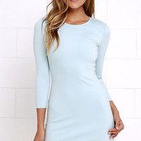 Perfectly Posh Light Blue Long Sleeve Dress