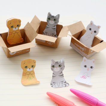 3D Cartoon Kawaii Paper Scrapbooking Cat Dog Stickers Cute Korean Stationery Sticky Notes Diary School Supplies Post It Memo Pad