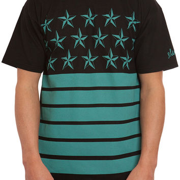 ELWOOD STARS AND STRIPES TEE BLACK/MINT