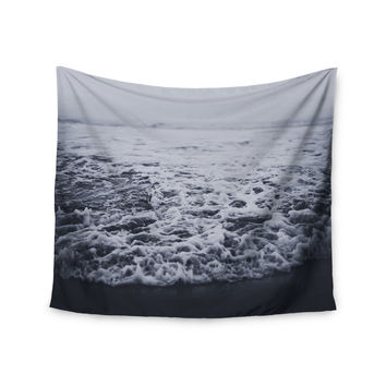 "Leah Flores ""Out to Sea"" Gray Coastal Wall Tapestry - Outlet Item"