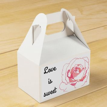Rose Floral Love Is Sweet Take A Treat Box