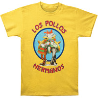 Breaking Bad Men's  Los Pollos T-shirt Yellow Rockabilia