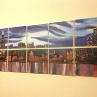 Beautiful 10 piece Chicago skyline