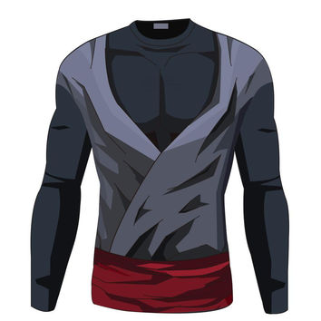 Goku black long sleeve armor shirt