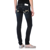 Hydraulic Hannah Ultra Dark Blue Super Skinny Jeans at Zumiez : PDP