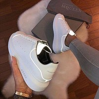 Alexander Mcqueen 2019 new platform sports and high-rise reflective lace-up shoes