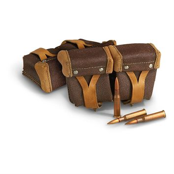 2 Used Russian Mosin Nagant Mag Pouches, Brown - 211297, Mag Pouches at Sportsman's Guide