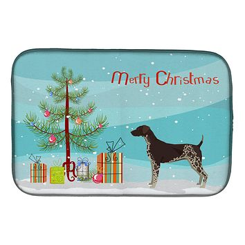 German Shorthaired Pointer Christmas Tree Dish Drying Mat CK3541DDM