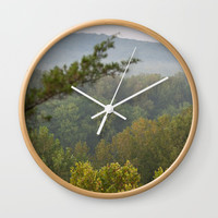 Castlewood Trees Wall Clock by Jessie Flori