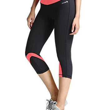 Cool Miami Women's Yoga Running Workout Capri Legging Hidden Pocket