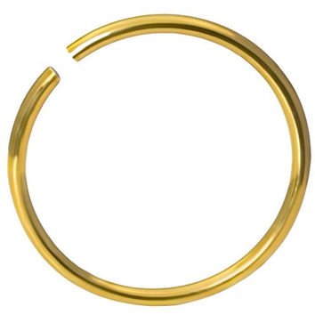 "20g Surgical Steel Titanium Anodized Gold 5/16""Small Nose Ring Hoop - Nose Piercing Jewelry"