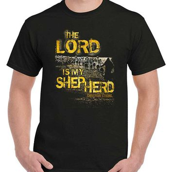 Lord Is My Shepherd Religious Gifts Jesus Christ Christian T-Shirt