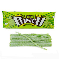 Sour Punch Straws 4.5-Ounce Trays - Apple: 24-Piece Box