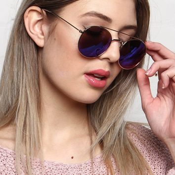 AJ Morgan Moreover Mirrored Aviator Sunglasses