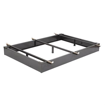 Queen size Hotel Style Metal Bed Frame Bed Base with Flush-to Floor Design