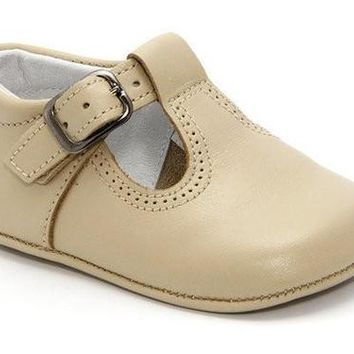 Classic Leather T-Strap Mary Janes Unisex for Boys