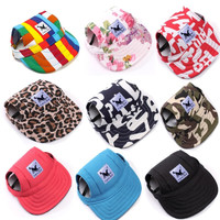 Dog Baseball Hat Summer Canvas Cap Only For Small Pet Dog Outdoor Accessories Outdoor Hiking Sports