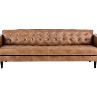 THRIVE MOCHA LEATHER SOFA