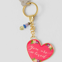 You Are So Loved Pink Keychain