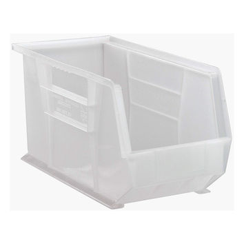 Quantum Plastic Storage Clear-View Ultra Hang and Stack Bin 18 x 8-1/4 x 9 - Pack of 6