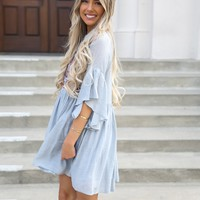 Brittany Baby Blue Tunic Dress