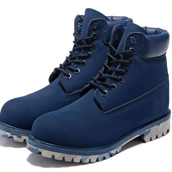 27dfac50fa200 Timberland 10061 Anti-fatigue outdoor classic high help blue - camouflage  at the end