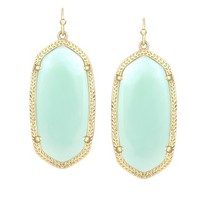 Elle Oval Earrings in Chalcedony - Kendra Scott Jewelry
