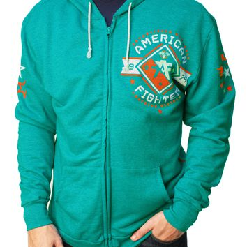 American Fighter Men's Massachusetts Full Zip Fleece Hoodie