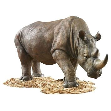 SheilaShrubs.com: South African Rhino Garden Sculpture KY71133 by Design Toscano: Garden Sculptures & Statues