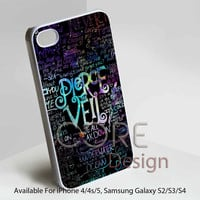 Pierce The Veil Logo Quote Galaxy Nebula Design for iPhone 4/4s/5 Case, Samsung Galaxy S3/S4 Case