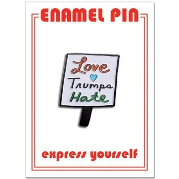 THE FOUND PIN - LOVE TRUMPS HATE
